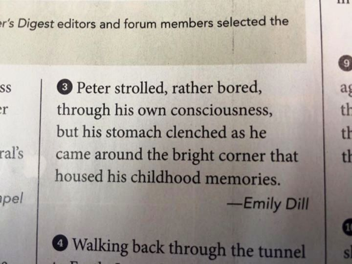Emily Dill's First Appearance in Writer's Digest